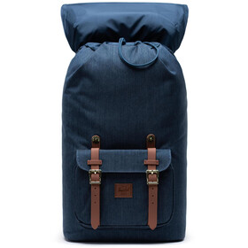Herschel Little America Rugzak, indigo denim crosshatch